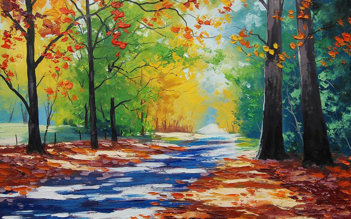 wilson autumn artsaus painting art wallpaper