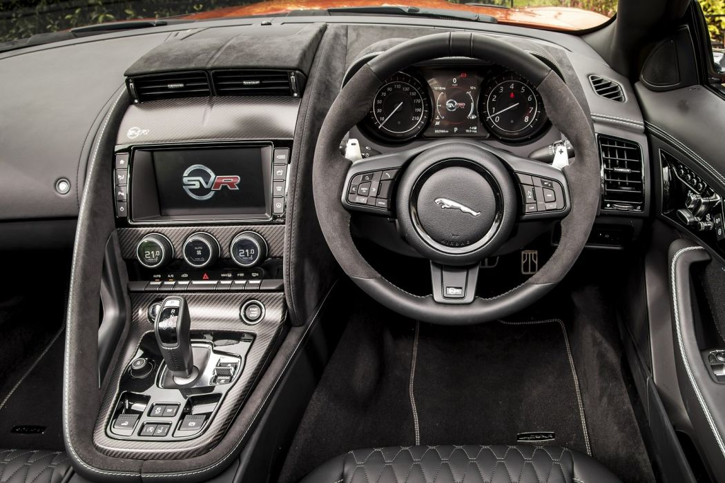 Jaguar F-Type SVR Convertible UK-spec cars 2016 wallpaper