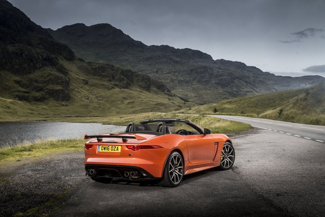Jaguar F-Type SVR Convertible UK-spec cars 2016 wallpaper