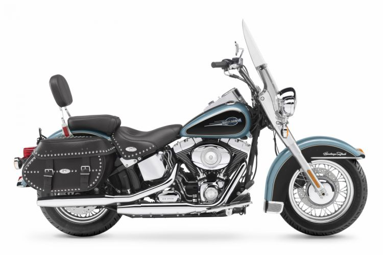 Harley Davidson FLSTC Heritage Softail Classic motorcycles 2007 wallpaper