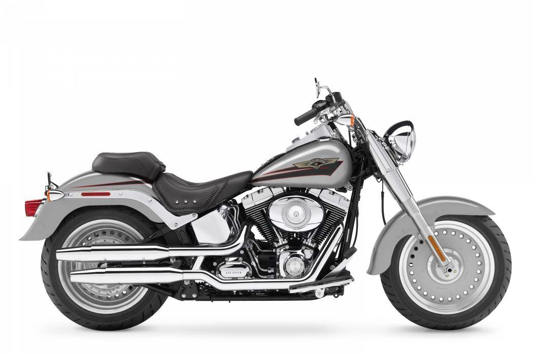Harley Davidson FLSTF Fat Boy motorcycles 2007 wallpaper