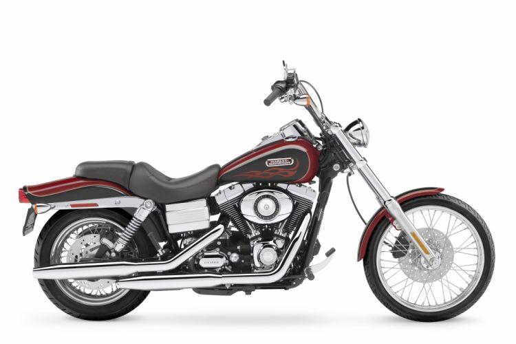 Harley Davidson FXDWG Wide Glide motorcycles 2007 wallpaper