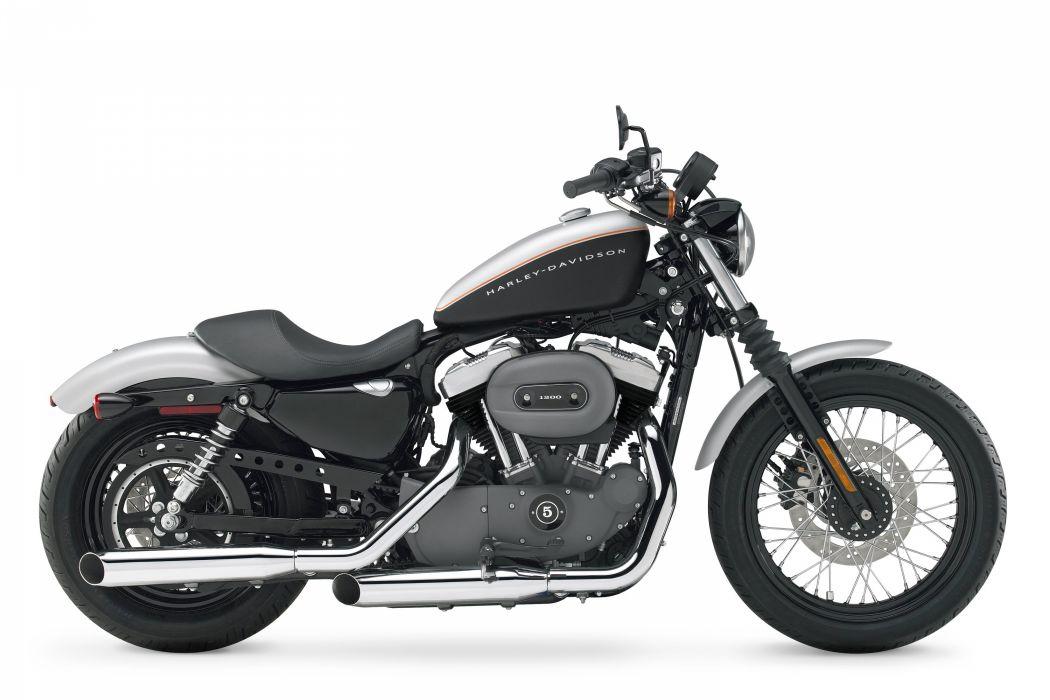 Harley Davidson XL1200N Nightster motorcycles 2007 wallpaper