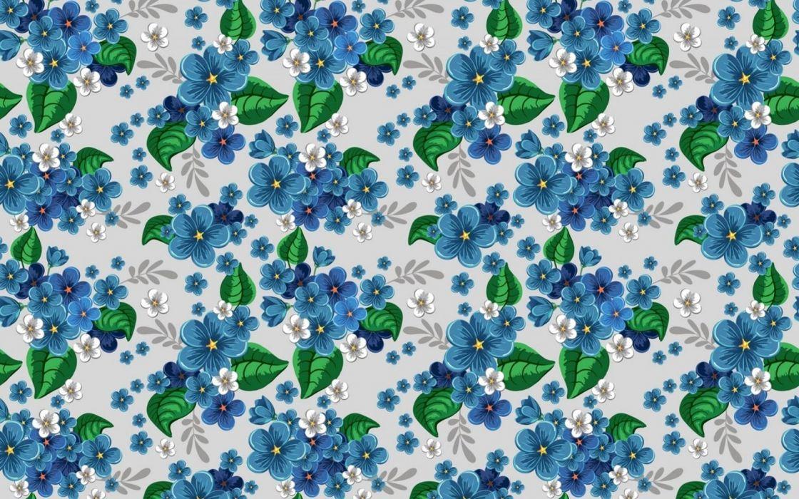 Pattern texture flower wallpaper