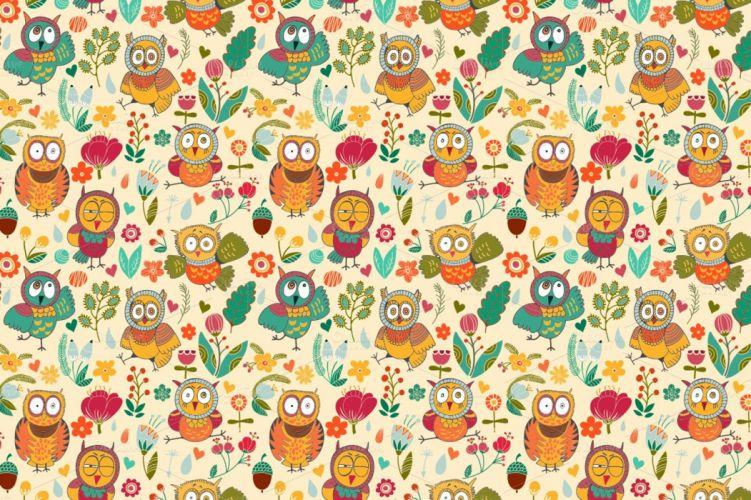 pattern owl texture wallpaper
