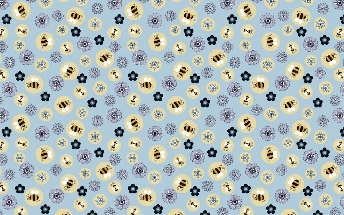 flower bee texture  wallpaper