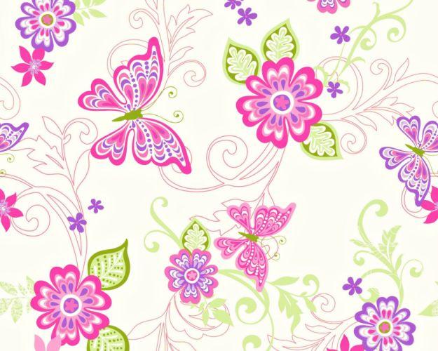 texture flower butterfly wallpaper