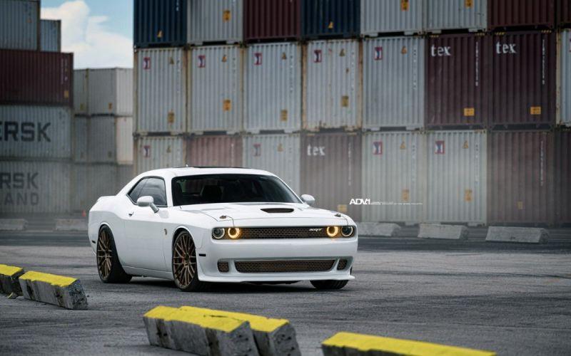 2016 ADV 1 Wheels Dodge Challenger SRT Hellcat cars white wallpaper
