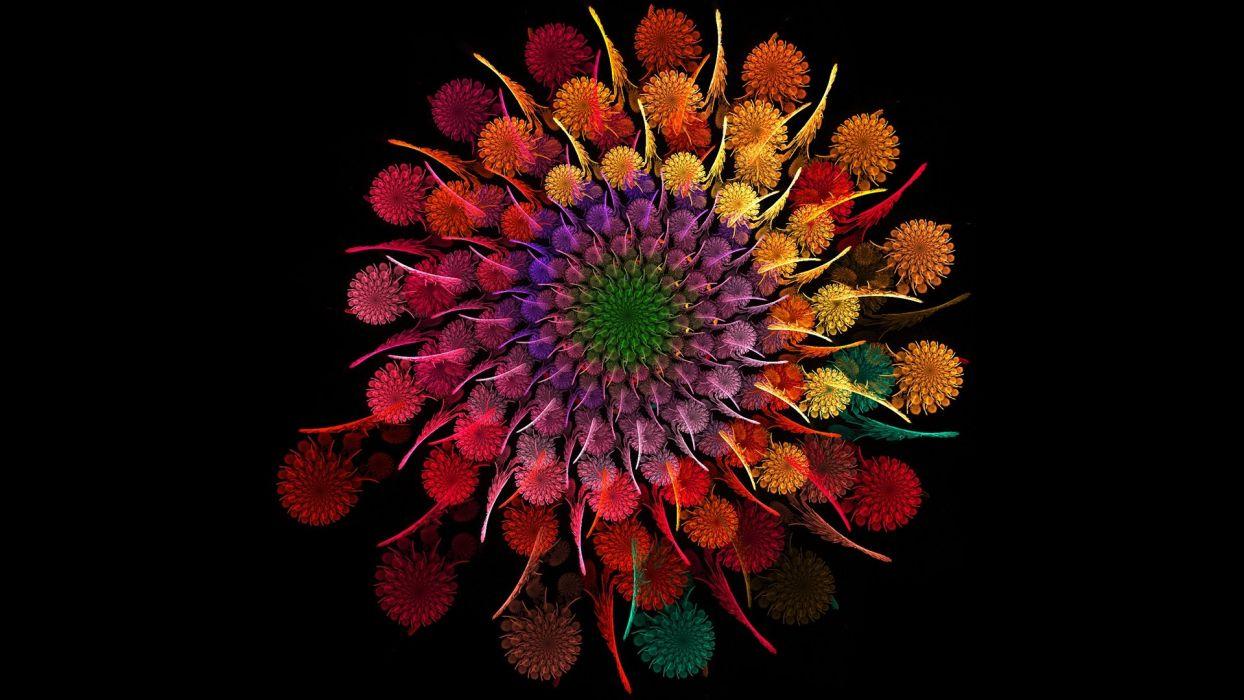 Abstract flower texture wallpaper