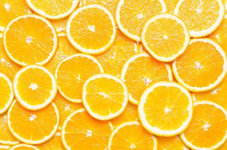 Orange slices texture wallpaper