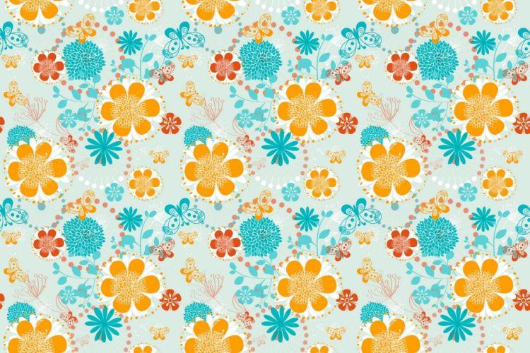flower texture butterfly wallpaper