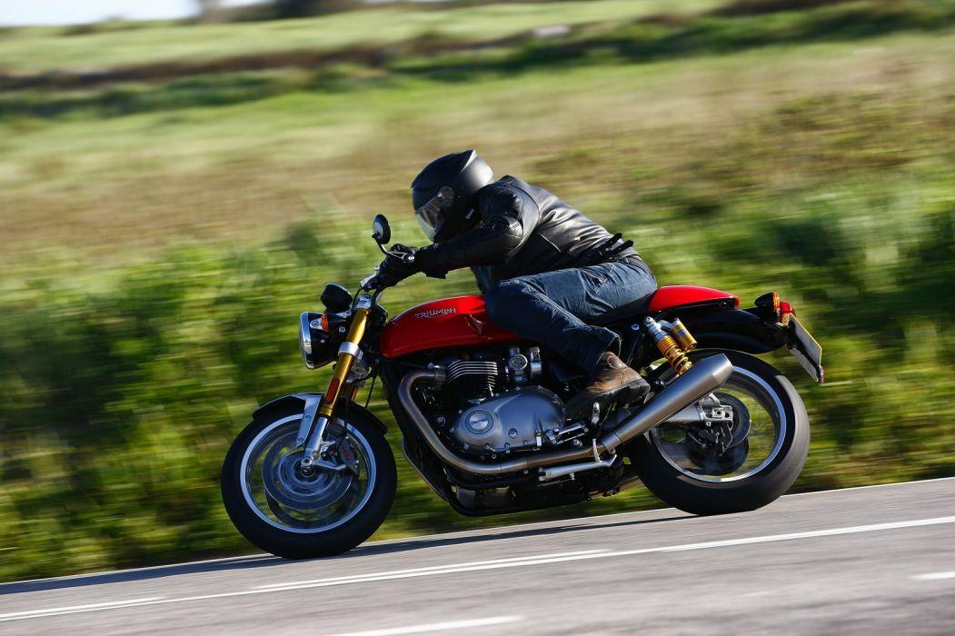 TRIUMPH THRUXTON R motorcycles 2016 wallpaper