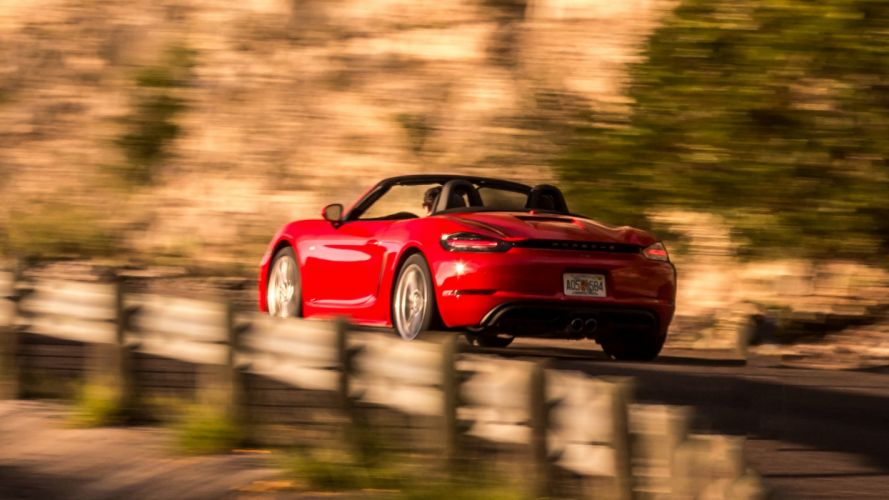 2016 Porsche 718 Boxster cars red wallpaper