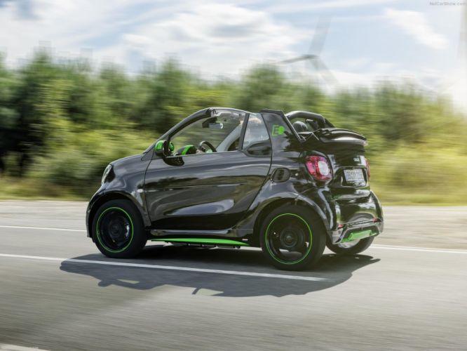 Smart fortwo Cabrio electric drive cars 2016 wallpaper