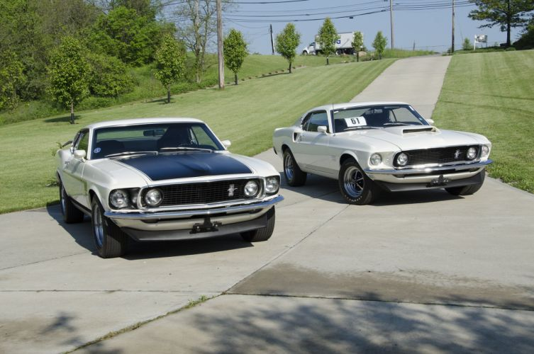 1969 ford mustang boss 302 cars whiteir-front-view-alt wallpaper