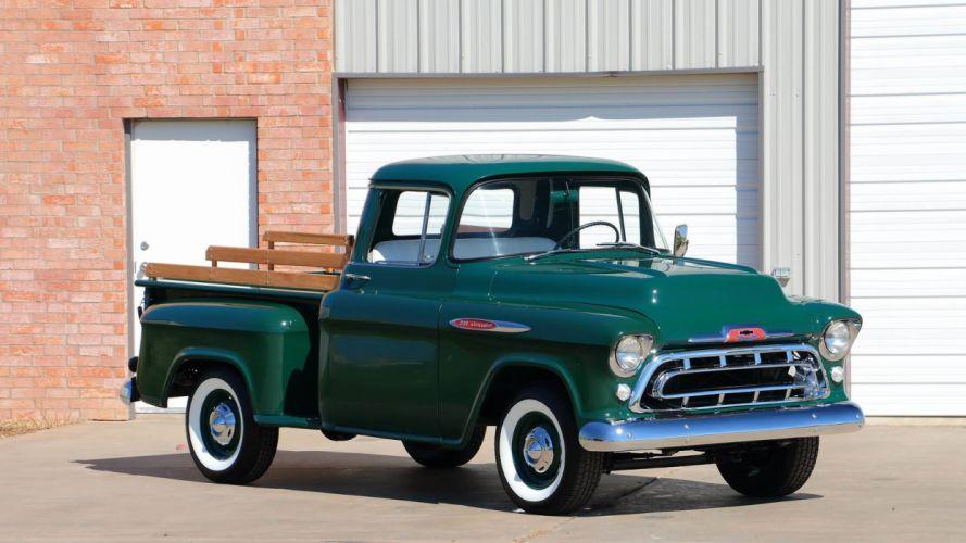 1957 CHEVROLET 3100 PICKUP truck wallpaper