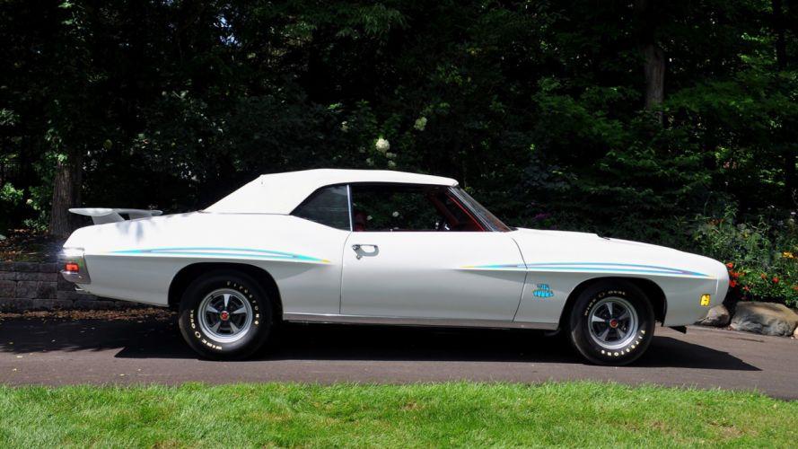 1970 PONTIAC GTO JUDGE CONVERTIBLE cars muscles white wallpaper
