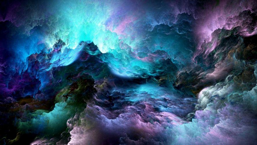 Textures Clouds blue wallpaper