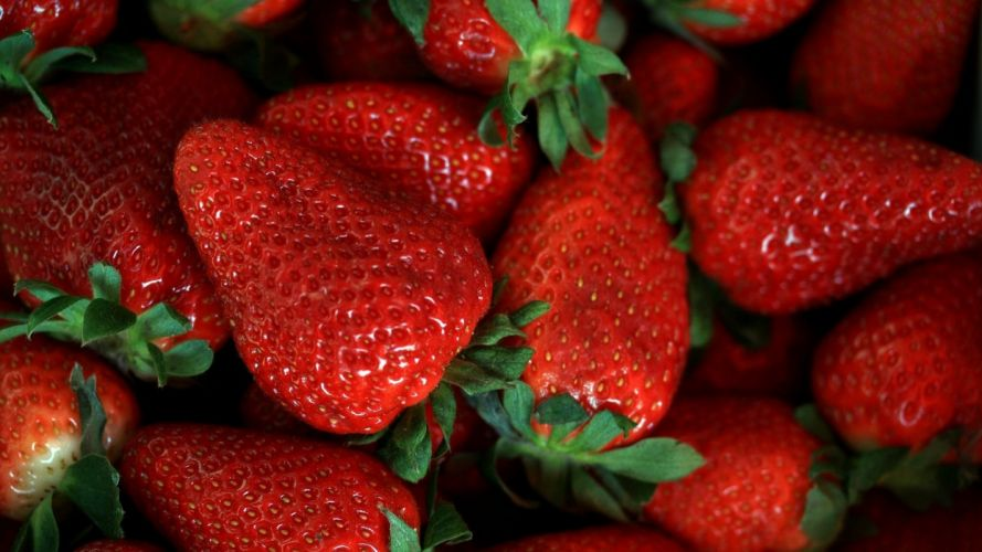 Textures Strawberries wallpaper
