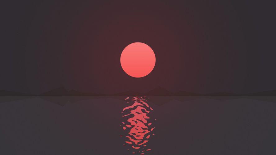 Textures Sunset wallpaper