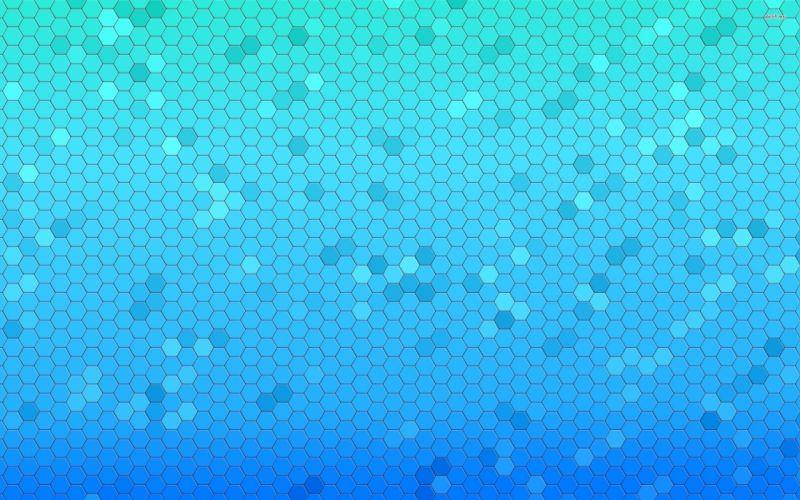 Textures blue honeycomb wallpaper