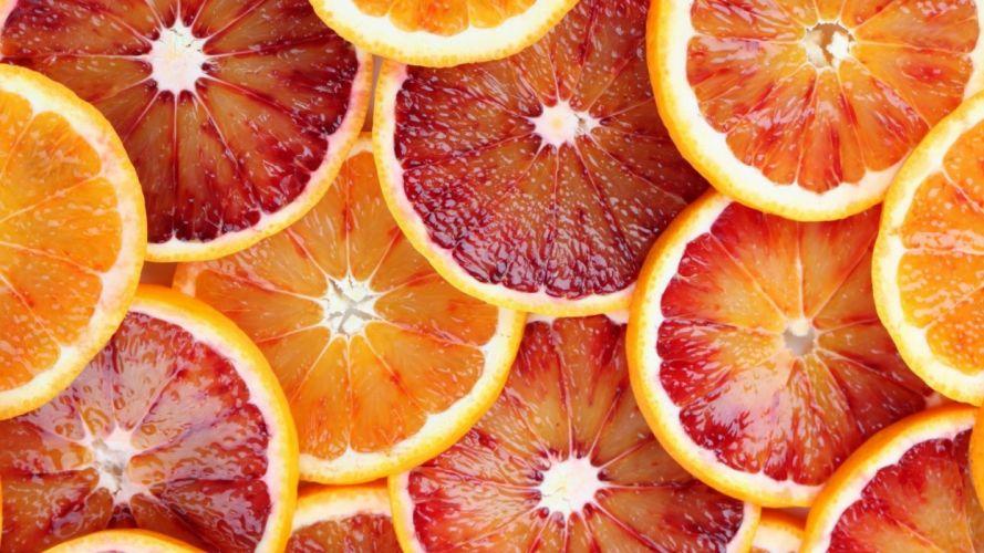 Textures Grapefruit slices wallpaper