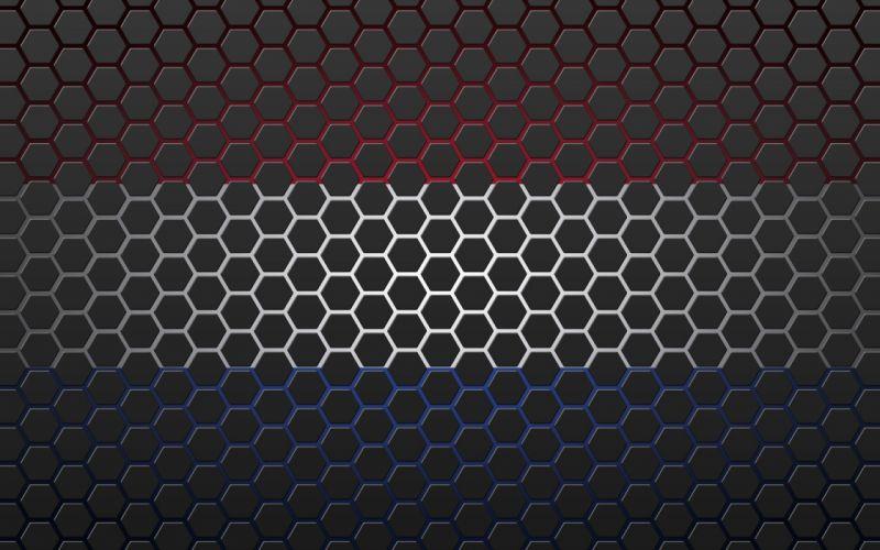Textures Netherlands flag with hexagons wallpaper