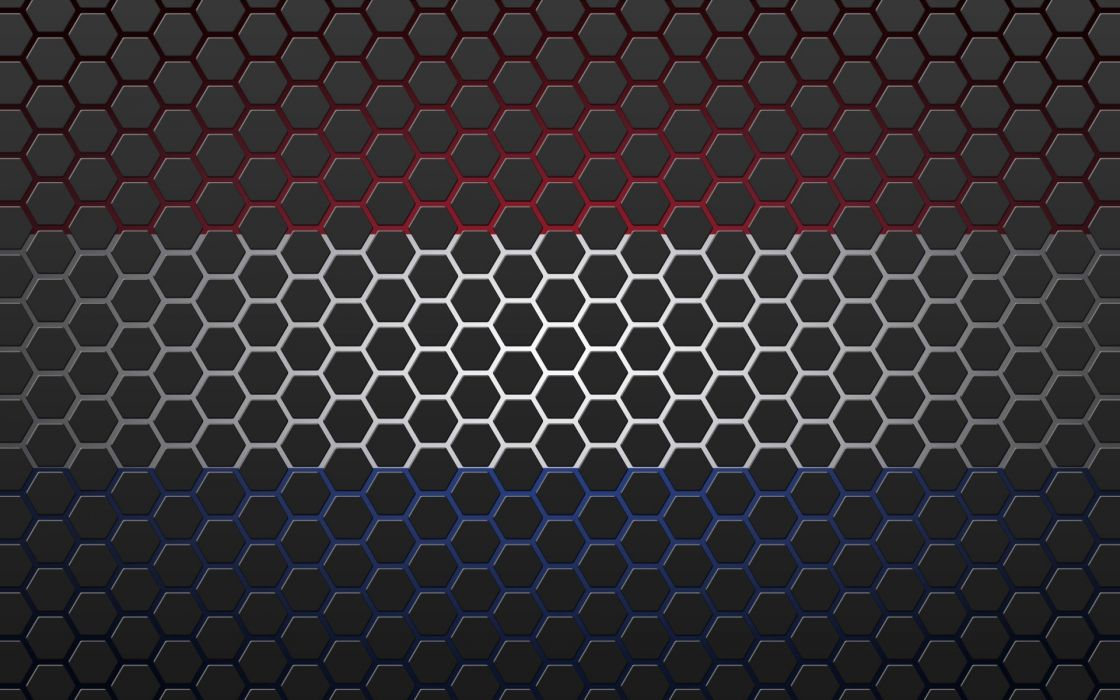 Textures Netherlands Flag With Hexagons Wallpaper 1920x1200