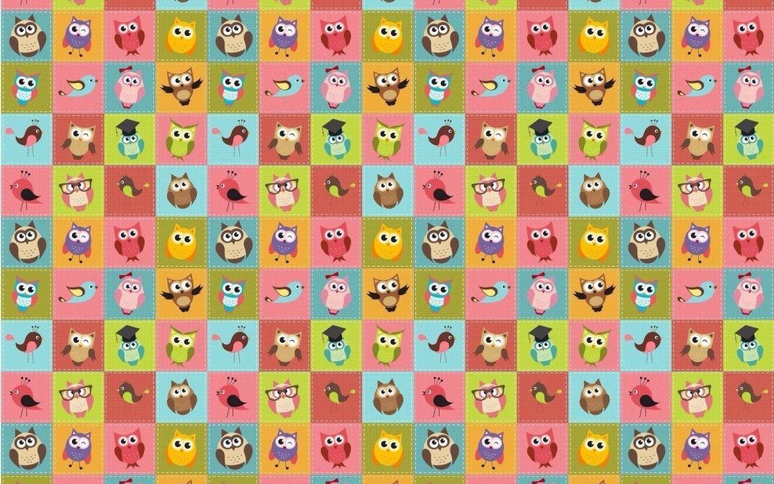 Textures owl wallpaper