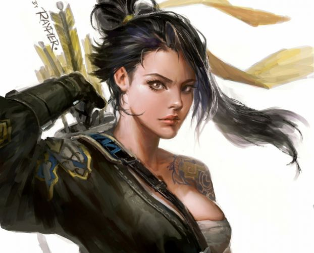 guerrera mujer manga anime wallpaper