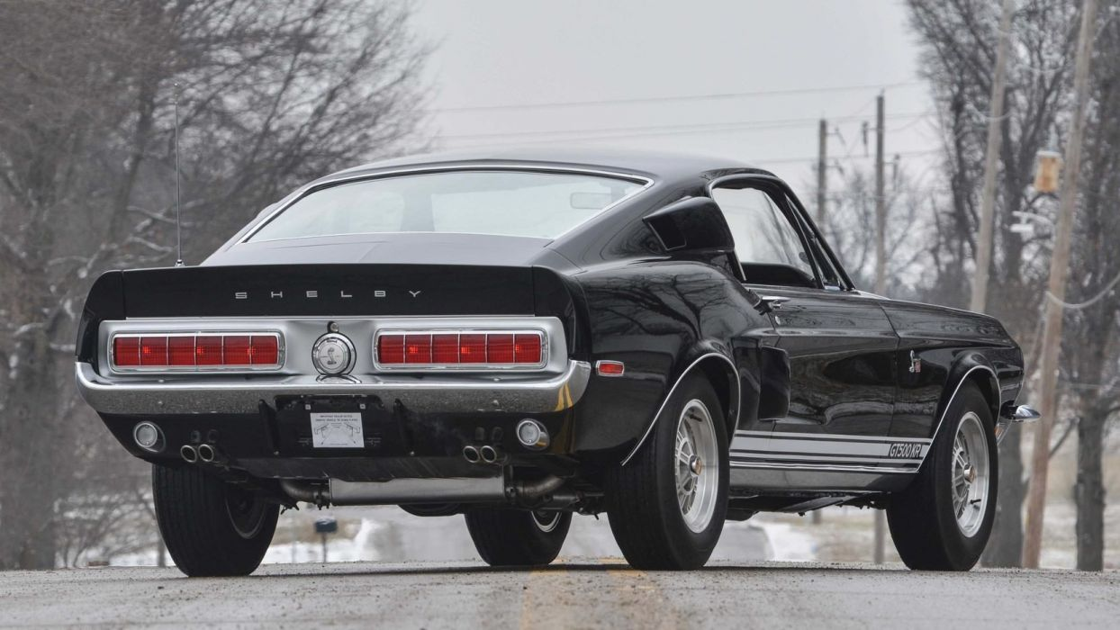 1968 shelby gt500 kr fastback cars black wallpaper 1664x936