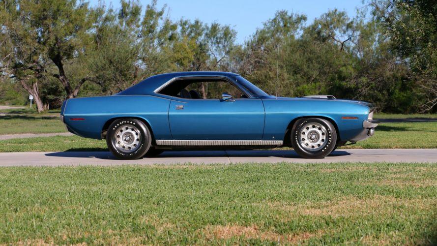 1970 PLYMOUTH HEMI CUDA cars blue wallpaper