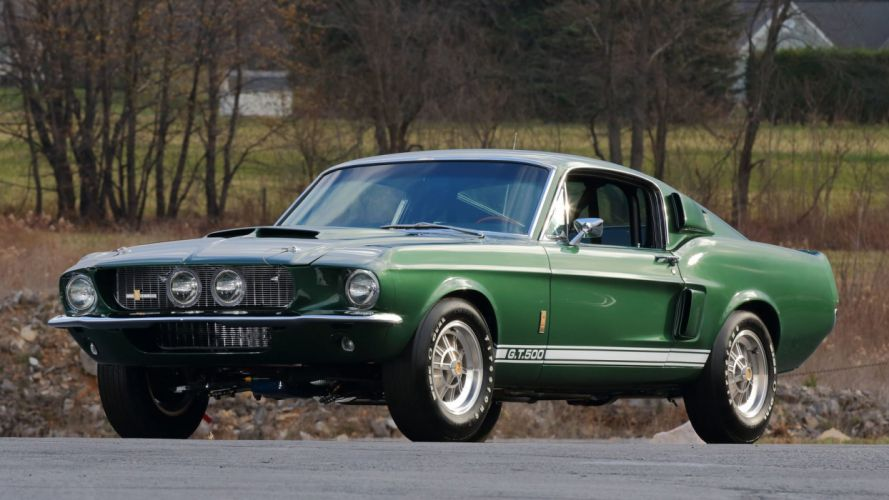 1967 SHELBY GT500 FASTBACK cars green wallpaper