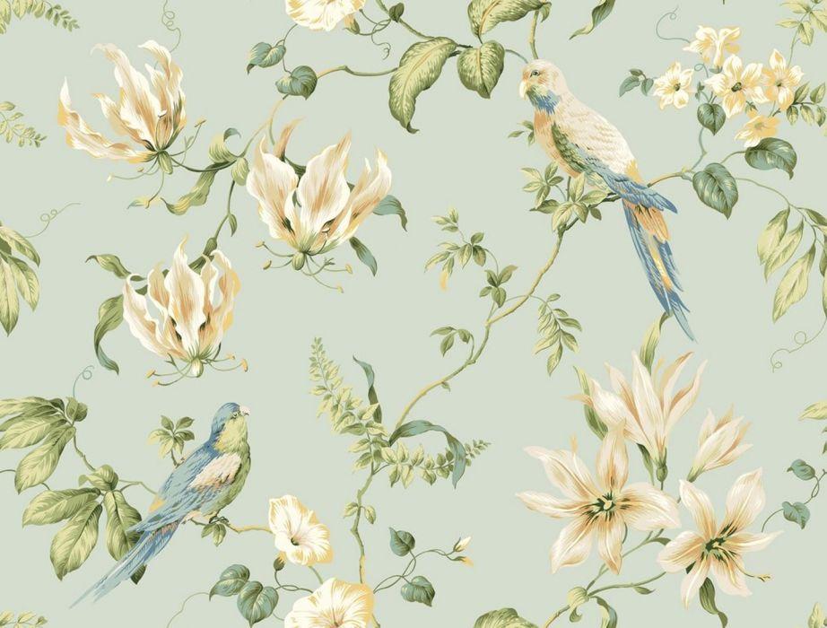 Textures Texture flower bird wallpaper