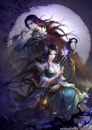 fantasy girl beautiful male couple dress wallpaper