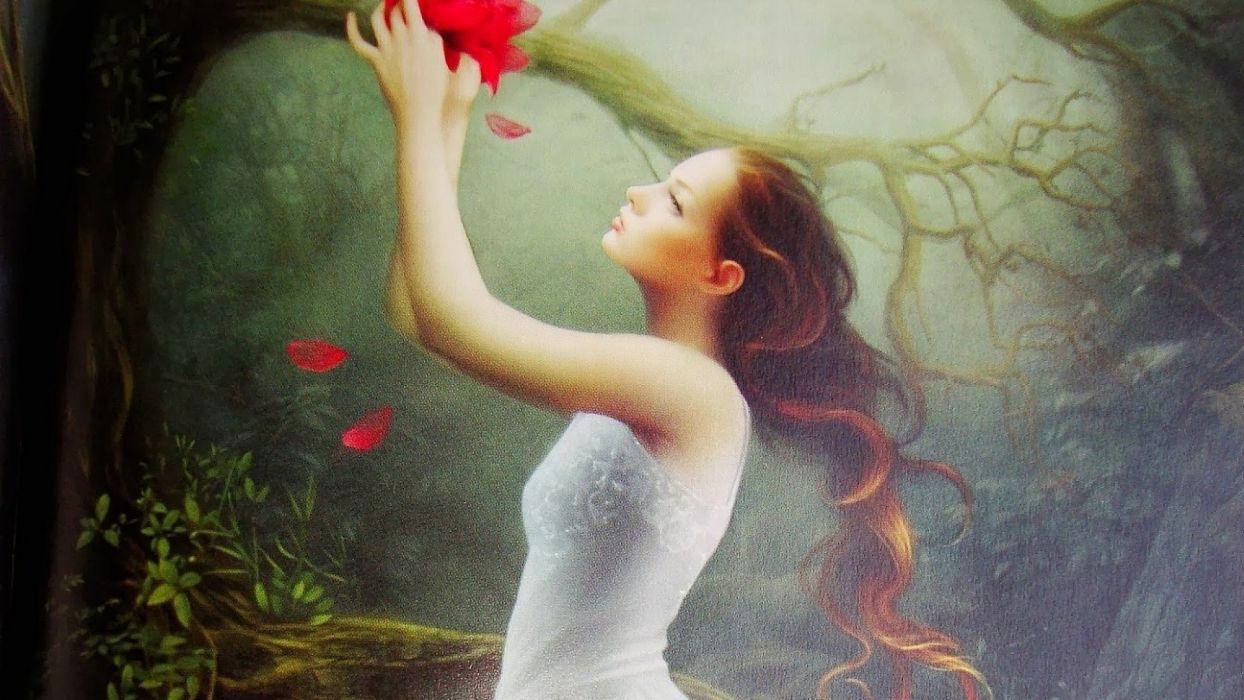 Love Memories fantasy girl dress wallpaper