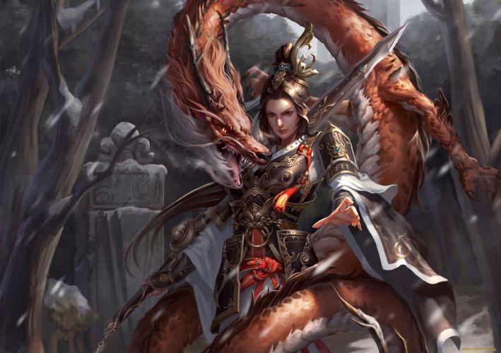 Fantasy Girl warrior wallpaper
