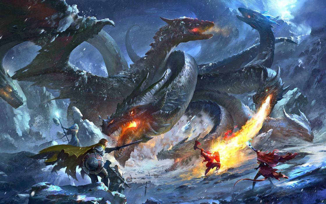 Fantasy Rage of Dragons wallpaper