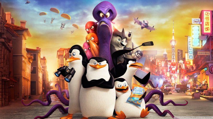 cartoons pinguinos madagascar wallpaper