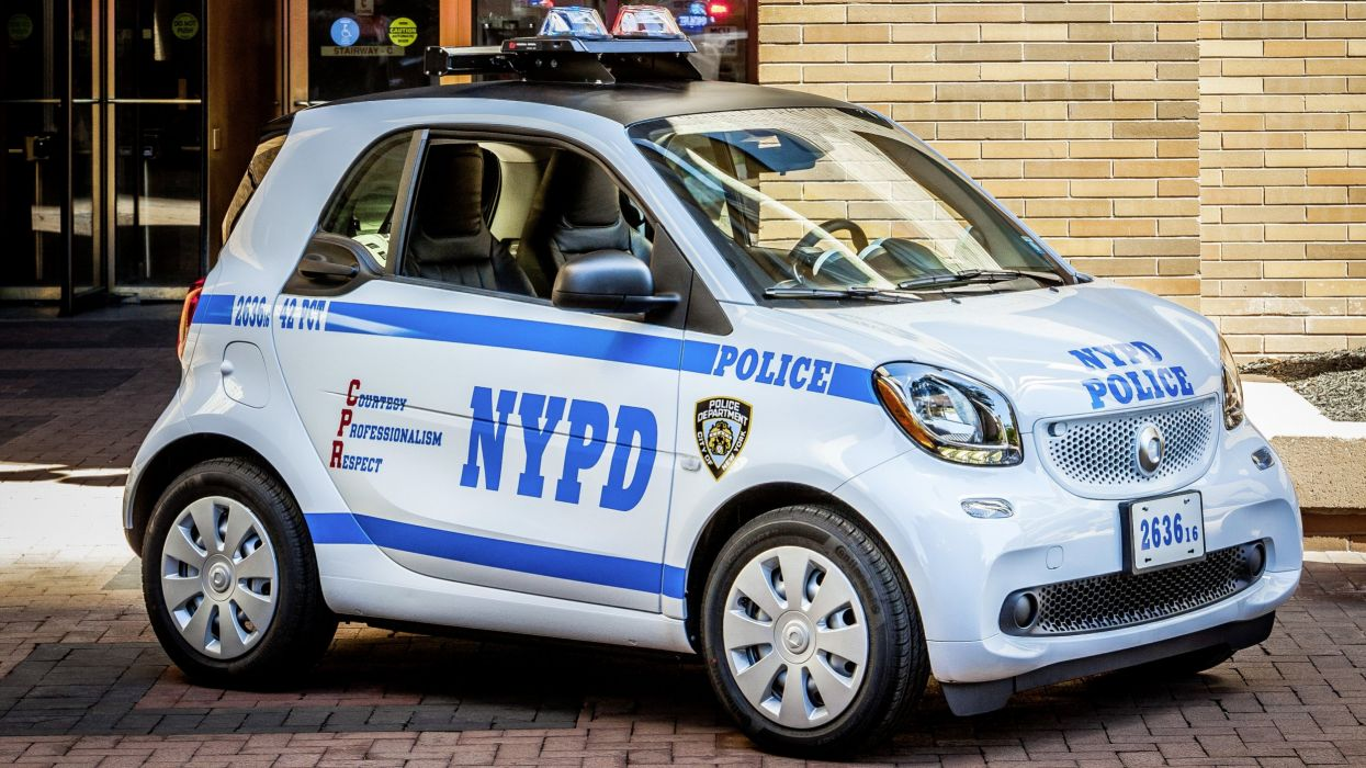 Smart ForTwo NYPD police new york cars 2016 wallpaper