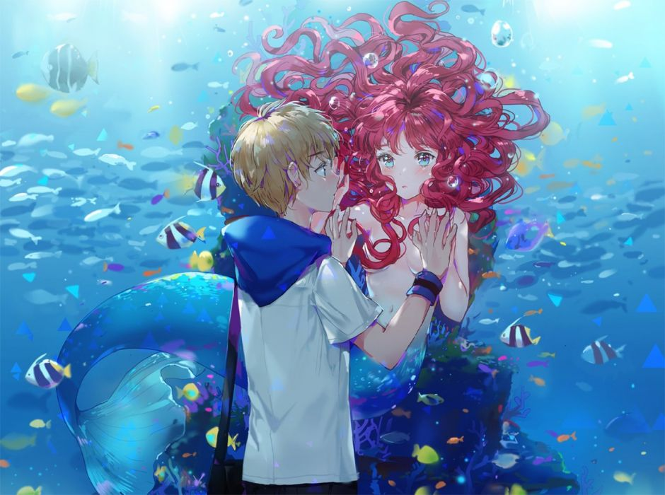 anime girl beautiful cute original Anime Siren & BOY wallpaper