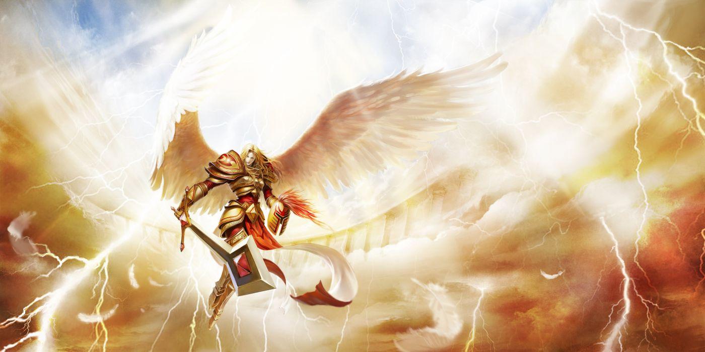 armor kayle league of legends sword tagme wings wallpaper