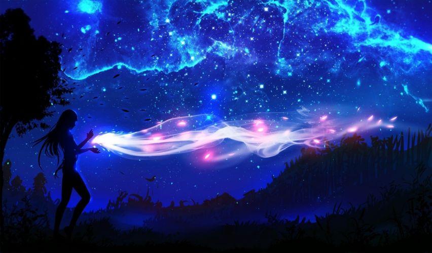 Night Sky anime girl wallpaper