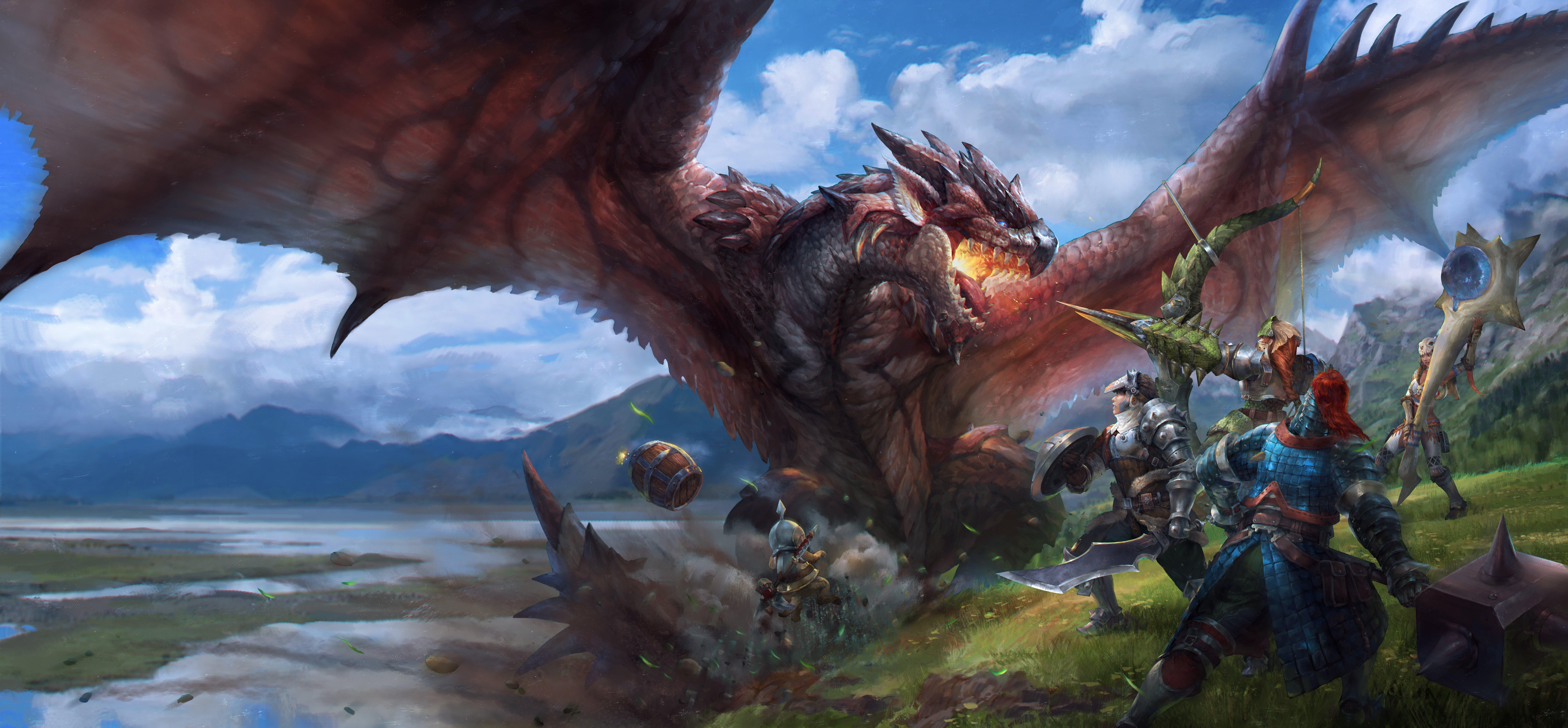 Monster Hunter World 4k Wallpaper: Armor Monster Monster Hunter Sword Tagme Weapon Wallpaper