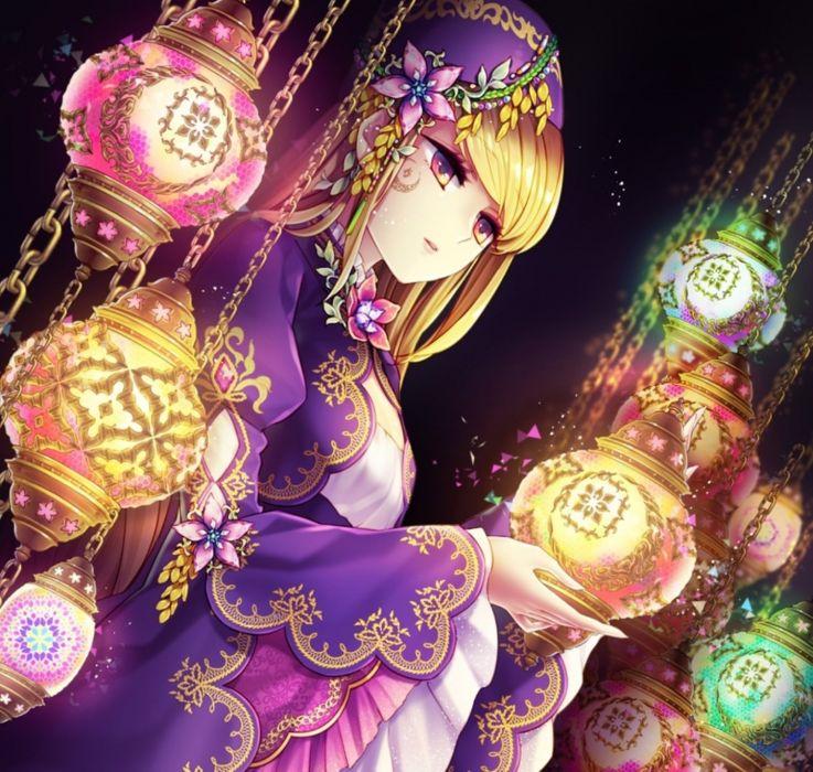 Anime Violette anime girl beautiful cute original  wallpaper