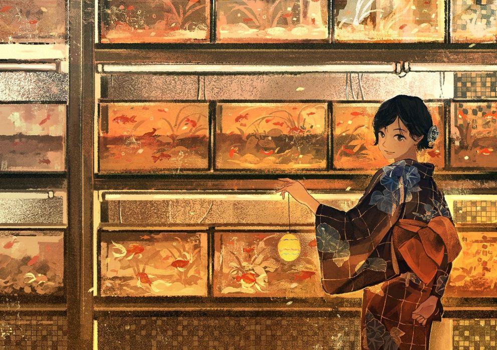 Anime Girls cute anime girl beautiful cute original  wallpaper