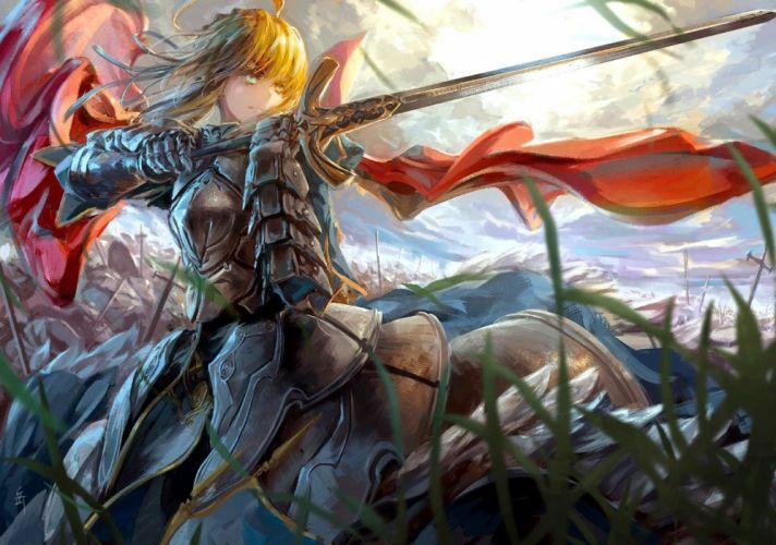 Anime Warrior anime girl beautiful cute original wallpaper