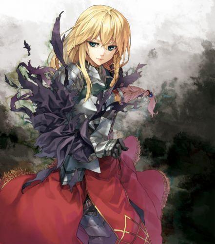 armor luna torn clothes anime girl beautiful cute original wallpaper