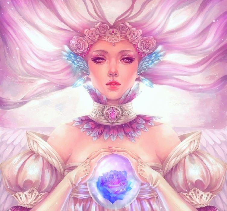Fantasy Pink Adaria girl beautiful cute original  wallpaper