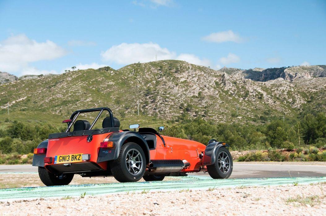 Caterham Seven 485-R cars orange 2013 wallpaper
